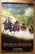 Lord Of The Rings Tolkien Original Huge 6x4 Ft Vinyl Banner Movie Poster Rare