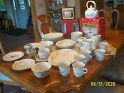 Pfaltzgraff Winterberry Vtg. Stoneware Holiday Christmas Grouping Of 92 Pieces