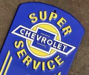 Genuine Chevrolet Service Wall Thermometer Metal Man Cave Game Room Shop Gm