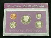 1988-s Us Mint 5-coin Proof Set In Original Box And Case—uncirculated J