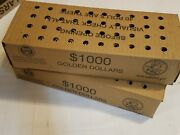 2 Sealed Boxes 2000 Mixed Circulated One Dollar Coins 80 Rolls Presidential And