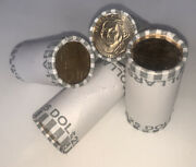 4 Rolls Of Dollar Coins Unsearched Fed Sealed Sacagawea Susan B. Anthony