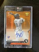 On-card Auto To 5 Luis Robert Topps Now Card Rc-03e Chicago Future White Sox