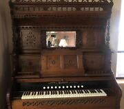 Antique Packard Pump Organ Intricate And Ornate Excellent Condition