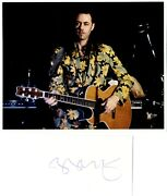 Bob Geldof - Irish Singer And Songwriter 'boomtown Rats - Live Aid ' Signed Card.