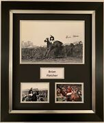 Brian Fletcher Hand Signed Framed Photo Display Red Rum Grand National.