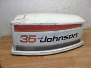 35 Hp Johnson Seahorse Magflash Cd Outboard Engine Cover Hood