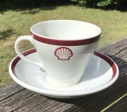 Shell Oil Marine Tanker Cup And Saucer Vintage 1970's Chinacraft England