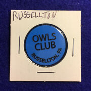 """""""owls Club"""" Russellton, Pa Good For One Bottle Beer In Trade, Lot E440"""