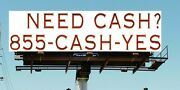 Vanity Phone Number 855-cash-yes For Pay Day Loans / Finance Co Lease Or Buy