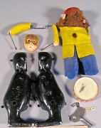 Parts Only Vintage Schuco Germany Wind-up Toy Monkey For Parts Only Drum Snare