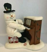 2005 Hallmark Jingle Pals Snowman Singing And Playing Piano Not Working