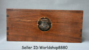 18.8 Antique Old China Huanghuali Wood Dynasty Ghost Eyes Jewelry Box Chest Bin