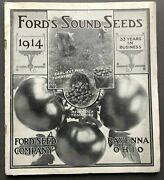 Ravenna Ford Seed Co., Oh / 1914 Catalogue Ford's Sound Seeds