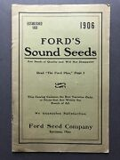 Ford Seed Co / Fordand039s Sound Seeds 1906 Catalog Seeds Bulbs Plants Trees