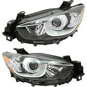 Headlights Lamps Set Of 2 Left-and-right Kj0151031c Kj0151041c Lh And Rh Pair