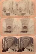 Lot Of 3 Vtg Stereoview Stereograph Cards - Italy Italy