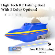 Rc Fishing Bait Boat Hook Chum Release 2.5 Hour Run Time Remote Control