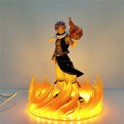 Fairy Tail Anime Led Etherious Natsu Dragne Pvc Action Figure Statue Collectible