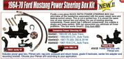 1964-70 Ford Mustang Power Steering Box Kit With Full Size Power Steering Pump