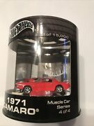1971 Camaro Z28 Real Riders Hot Wheels Limited Muscle Cars Series Oil Can Red