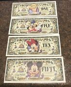 Disney Dollars 50th Anniversay Set All A Series Includes 1510 And 50