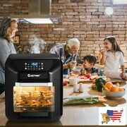 Fryers 7 In 1 Kitchen 10.6 Qt Electric Air Fryer Roast Toaster Oven With Multipl