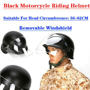 Black Outdoor Motorcycle Riding Helmet High Density Goggles With Soft Interior