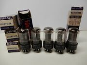 Tung-sol Nos Set Of 5 12sn7gt Vacuum Tubes Matching Date Codes 80 - 107 Strong