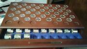 United States Presidential Dollars-39 Presidents + 39 Rolls Of 12+1/display Case