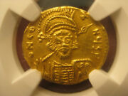 Authentic Byzantine Gold Coin Constantine Iv 668-685ad Solidus - Ngc