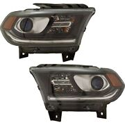 Pair Set Of 2 Headlights Lamps 68299134ad, 68299135ad For Dodge Durango 16-20