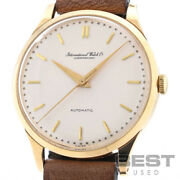 Yellow Gold Automatic 853 Old Inter Silver K18yg Vintage Watch
