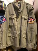 Nwt Polo Big And Tall Army Green M65 Skull Patch Military Jacket 2xb