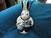 Dedham Pottery The Potting Shed Concord, Ma. Bunny Cookie Jar