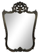 Vintage 1970s Regency Style Carved Hanging Wall Mirror