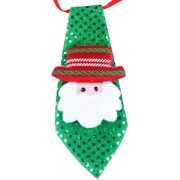 10xparty Lights Christmas Tie Glow New Year For Cartoon Sequins Necktie