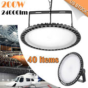 40x 200w Slim Ufo Led High Bay Light 110v Warehouse Factory Industrial Work Lamp