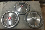 Three 1975-78 Ford Mustang 13 Chrome Hubcaps