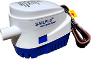 Sailflo Automatic Submersible Boat Bilge Water Pump 12v 750gph Auto With Float S