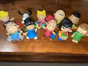 Peanuts Collectors Figure Set 2015 10 Piece Set The Peanuts Gang Is All Here