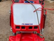 Atc Addiction - Front Number Plate In Red. Honda 3 Wheeler 250r 350x 200x Maier