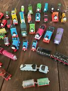 Vintage Huge Thomas The Train Lot Includes Wooden, Metal, And Plastic 48 Pieces