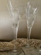 Waterford Millennium Collection Fourth Toast Prosperity Crystal Flutes