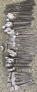Hmc Households Flatware Lot 62 Pieces Floral Vintage Stainless Midcentury Modern