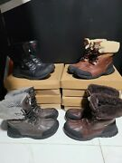 4 Pairs Of Ugg Men's Boots All Size 9.5 - Black/brown/butte/gray