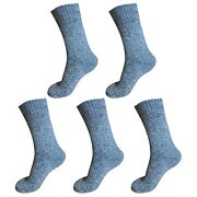 5pair Mens Heavy Duty Thick Winter Thermal Warm Hiking Knit Crew Wool Boot Socks