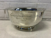 Fisher Sterling Silver 1950 Monmouth County Kennel Club Best In Show Trophy Bowl