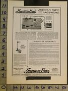 1930 Toy Ad American Flyer Electric Train Mechanical Track Switch Structo Tc93