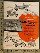 1954pedal Car Space Jet Tractor Bicycle Tricycle Baby Stroller Murray Toy Adtm51
